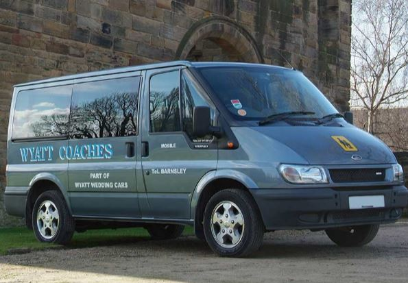 Minibus with driver